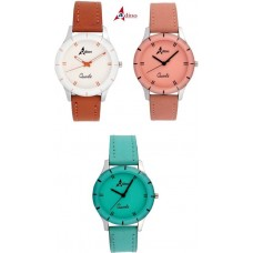 Adino Combo of 3 Valentine Analog Watches - For Girls AD708283