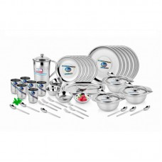 Airan 51 Pcs Stainless Steel Gold Dinner Set
