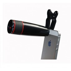 V-Luma Universal 12X Zoom Mobile Phone Telescope Lens with Adjustable Clip Mobile Phone Lens with Adjustable Clip Holder L85